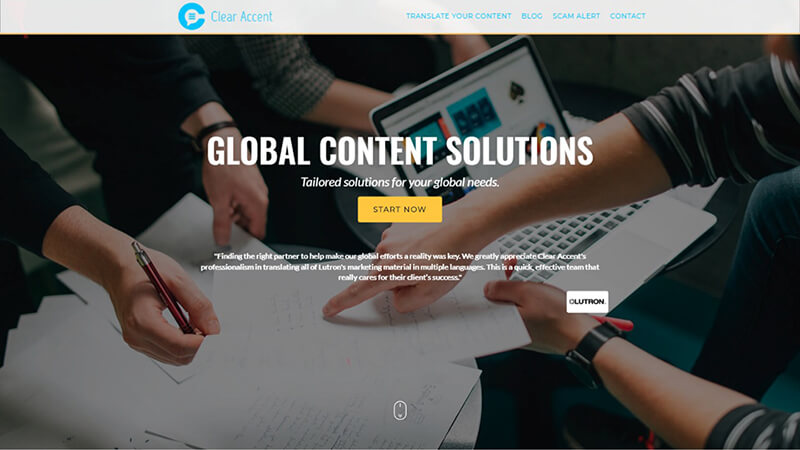 clear-accent website